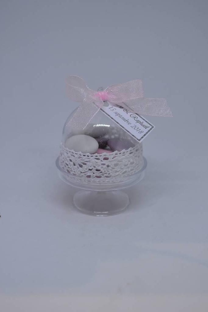 Mini cloche à dragée mariage champêtre le festival de la dragée