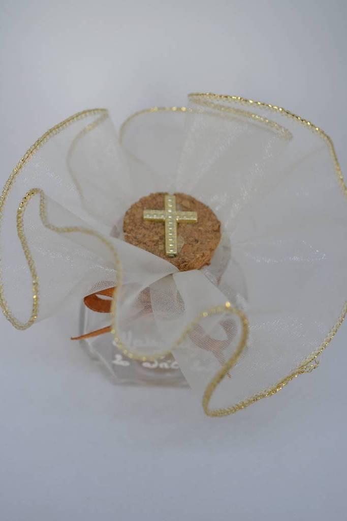 Ballotin à dragée en verre de communion le festival de la dragée