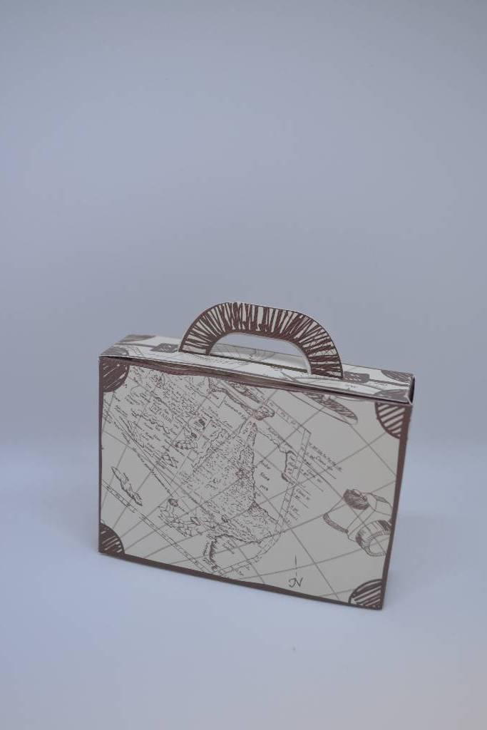 contenant à dragée en forme de valise festival de la dragée
