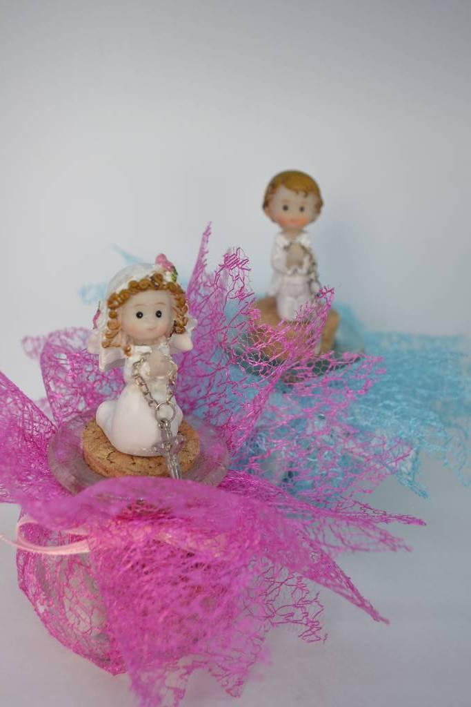 Ballotin à dragée de communion avec figurine le festival de la dragée