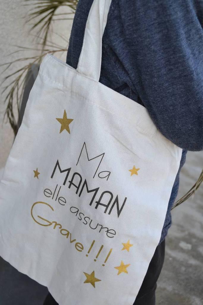 Tote bag personnalisé fête des mères festival de la dragée
