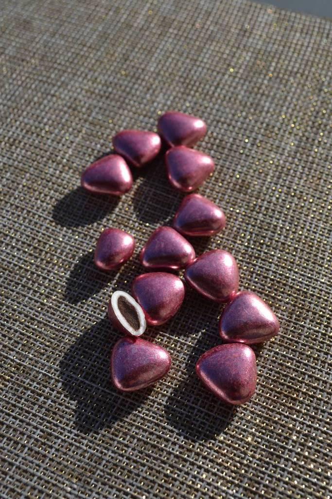 Mini coeur 50% chocolat rose gold le festival de la dragée