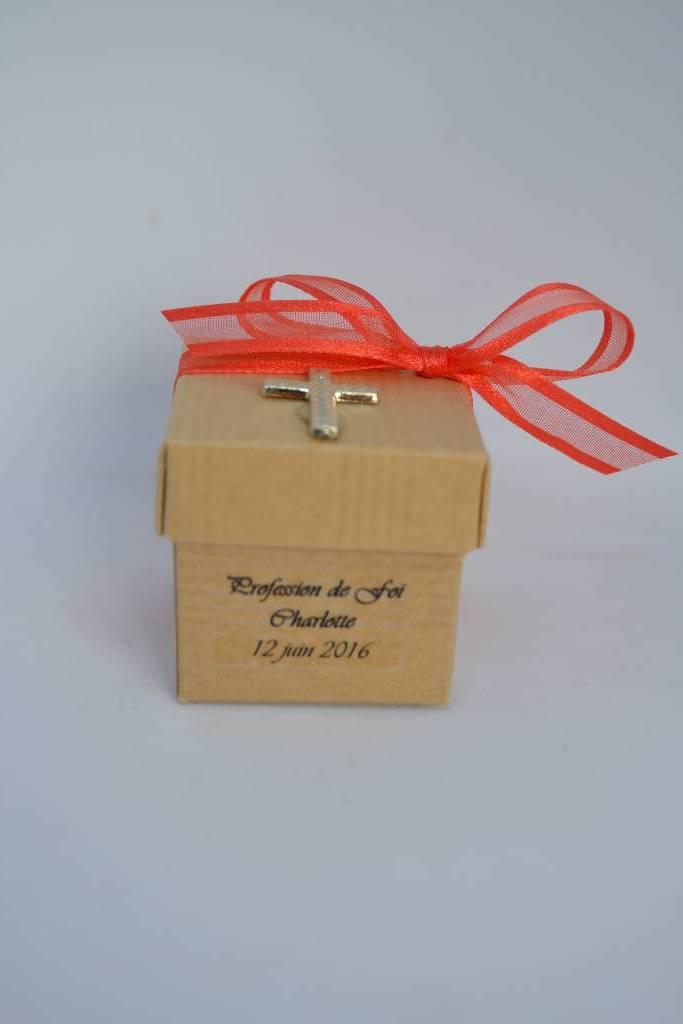 Mini cube dragée communion le festival de la dragée
