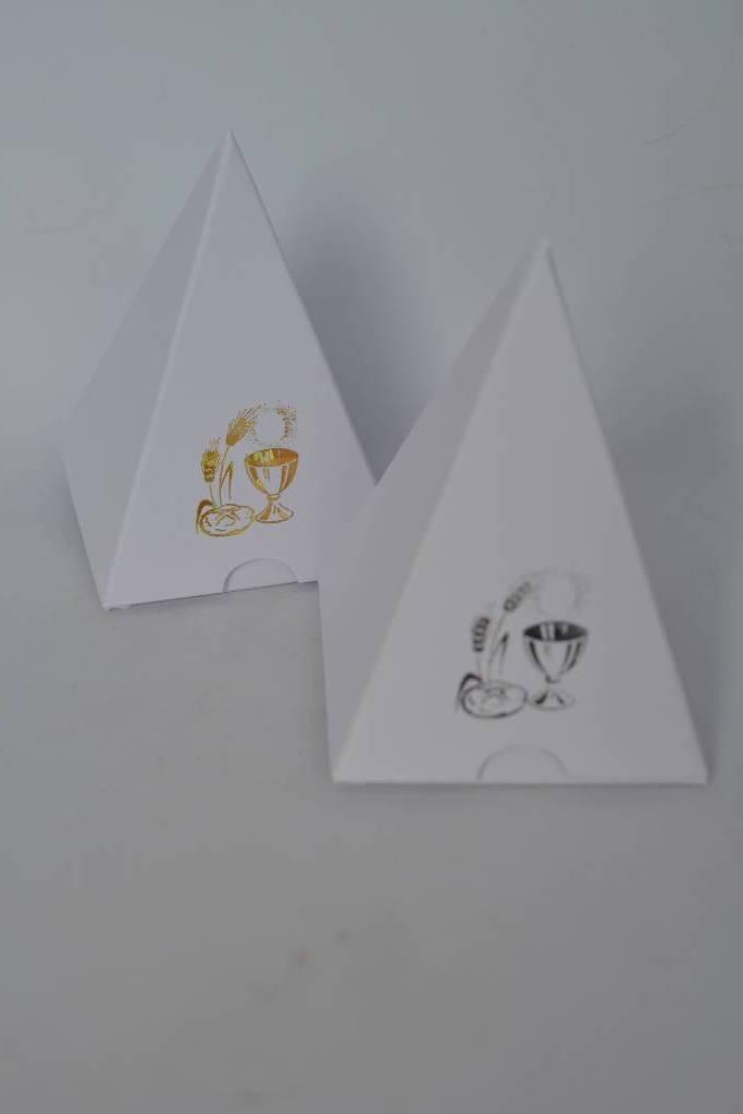 Ballotin à dragée pyramide de communion le festival de la dragée