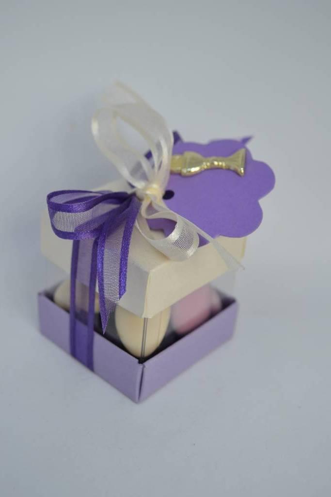 Mini cube duo à dragée de communion le festival de la dragée