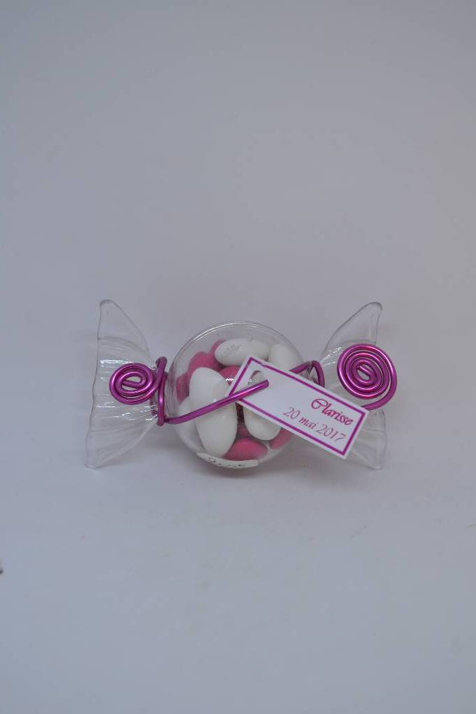 Ballotin à dragée bonbon avec fil alu le festival de la dragée