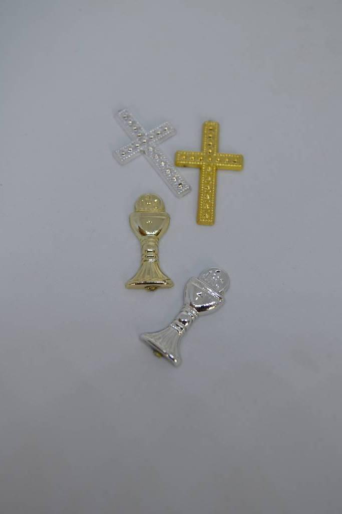 Calice et croix de communion or et argent le festival de la dragée