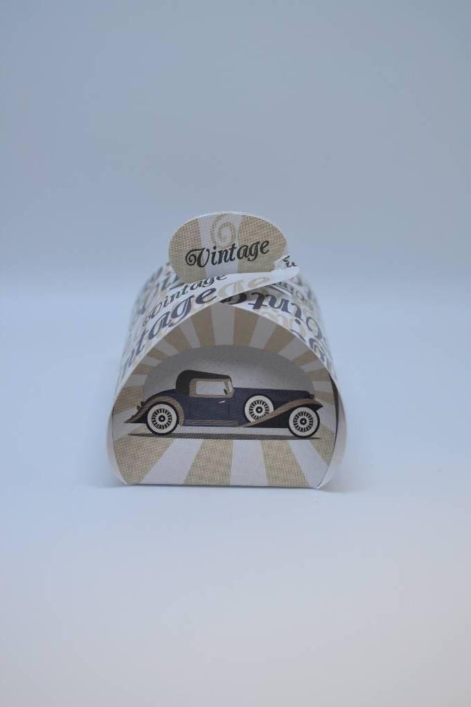 boite à dragée cartonnée voiture vintage festival de la dragée