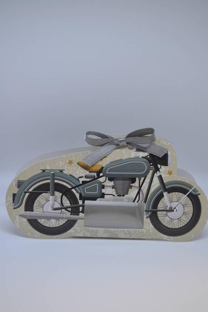 Ballotin à dragée cartonnée moto vintage festival de la dragée