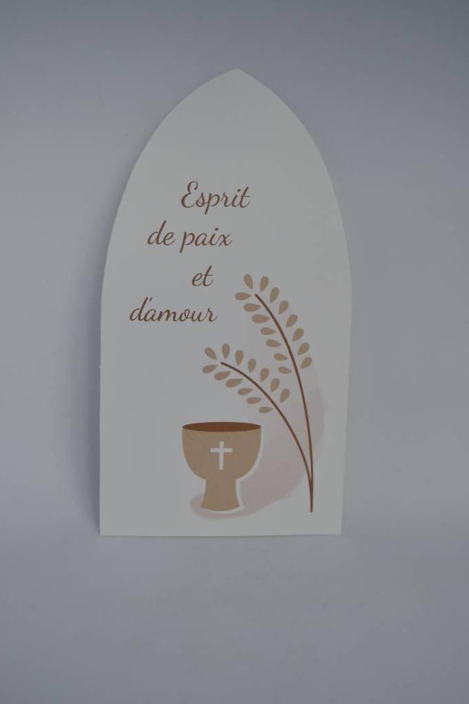 Image de communion avec épi de blé et calice le festival de la dragée