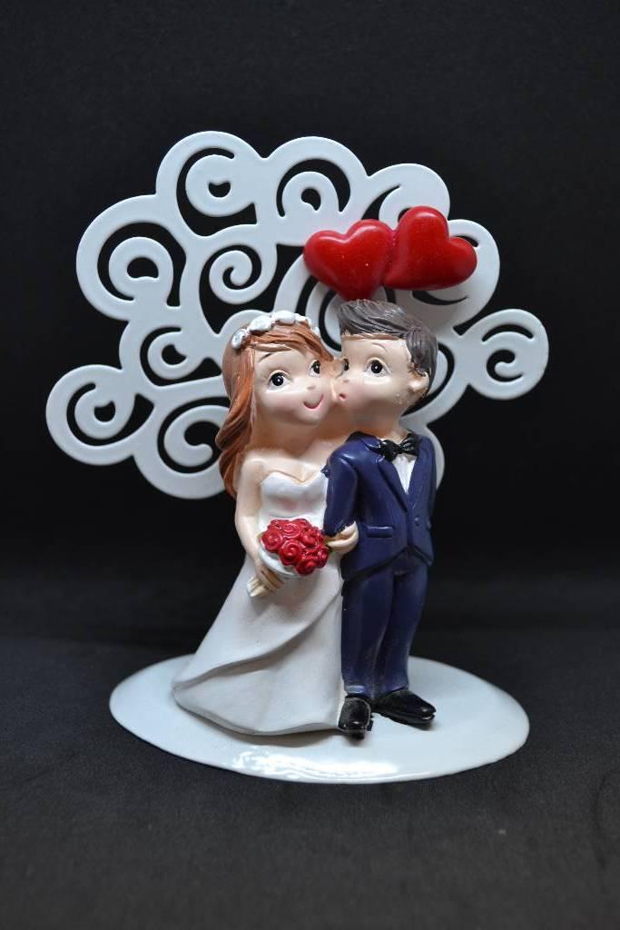 Figurine de marié métal porte message festival de la dragée