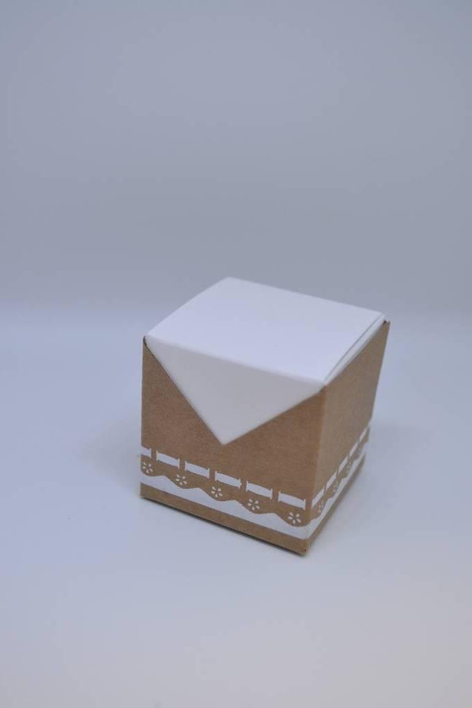 boite à dragée carton dentelle et kraft festival de la dragée