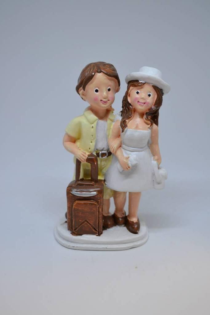 Figurine couple de mariés voyageur festival de la dragée