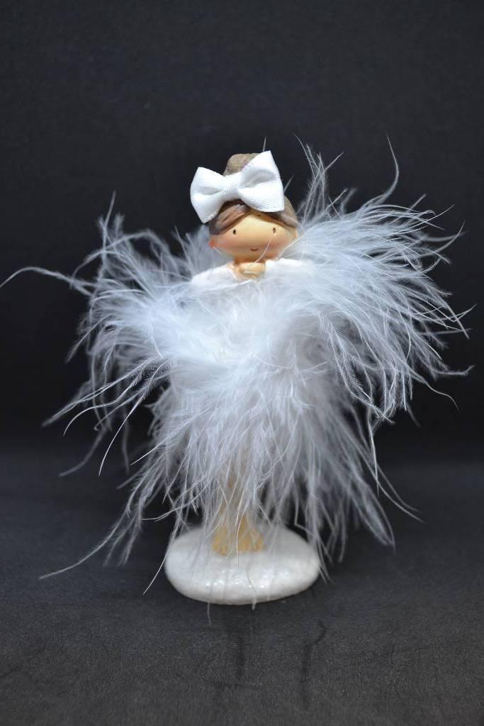 Figurine anniversaire danseuse plume festival de la dragée