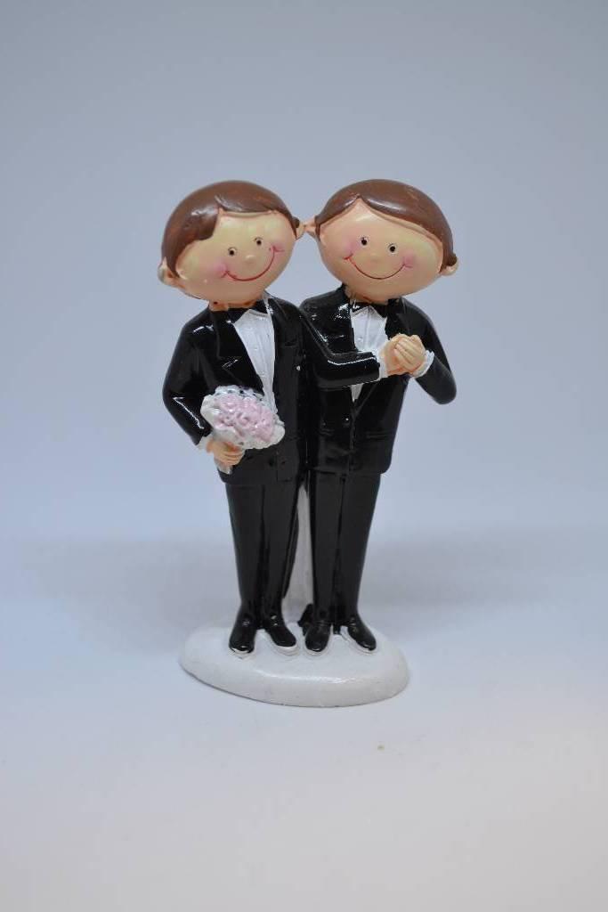Figurine de mariés homme gâteau festival de la dragée