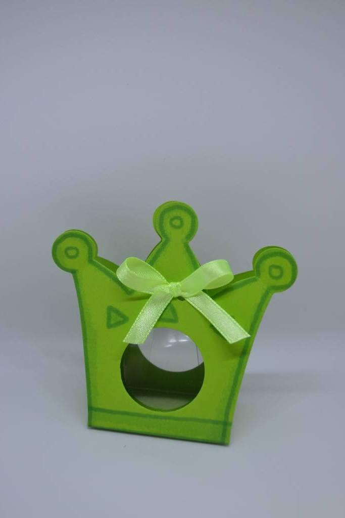 boite à dragée couronne verte festival de la dragée