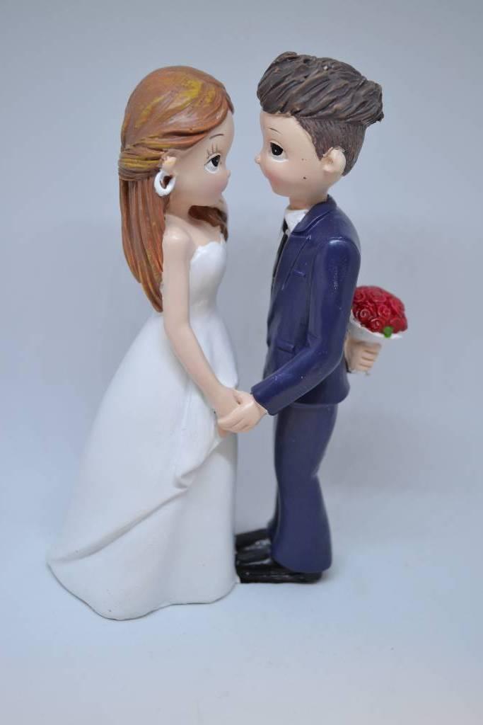 Couple de mariés figurine gâteau festival de la dragée