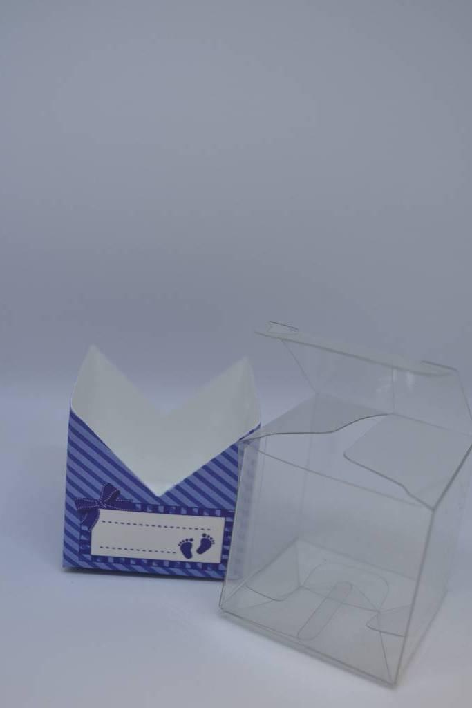 contenant cartonné dragée petit cube rose ou bleu festival de la dragée