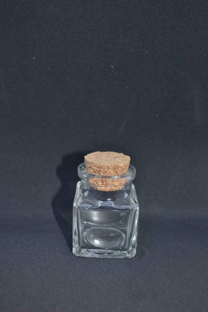 Ballotin à dragée pot carré en verre festival de la dragée