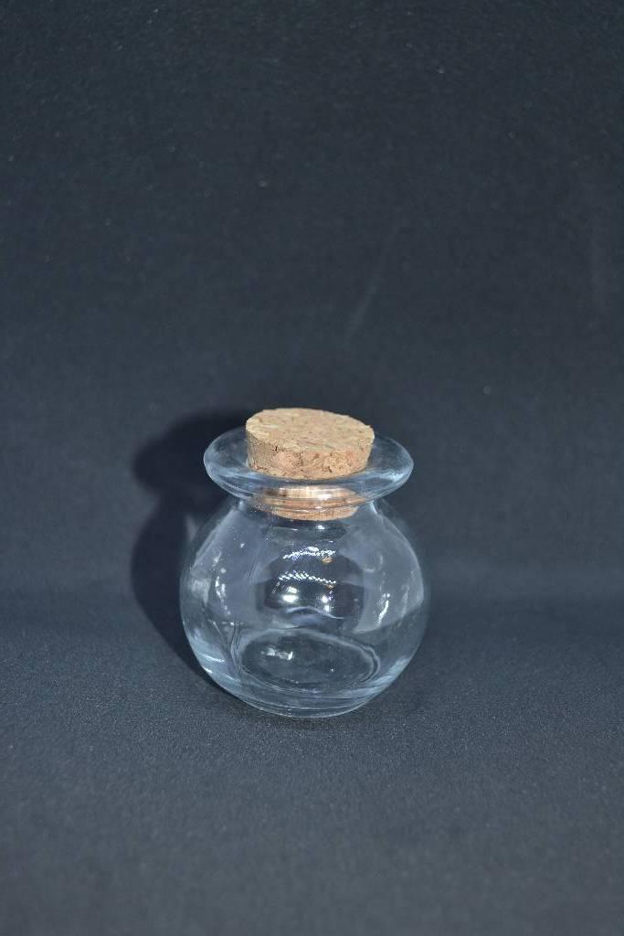 Contenant en verre forme pot rond à dragée festival de la dragée