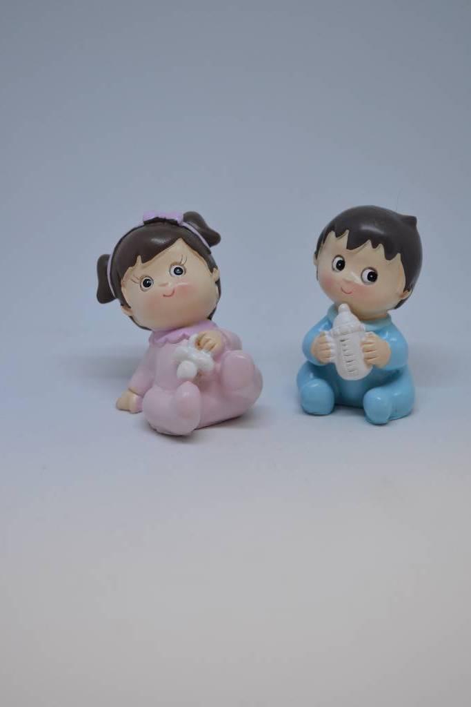Figurine de baptême bébé fille garçon festival de la dragée