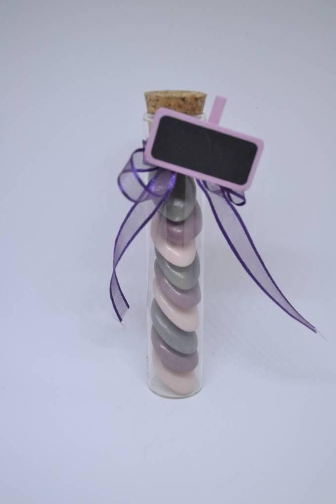 Dragée tube à essai violet festival de la dragée