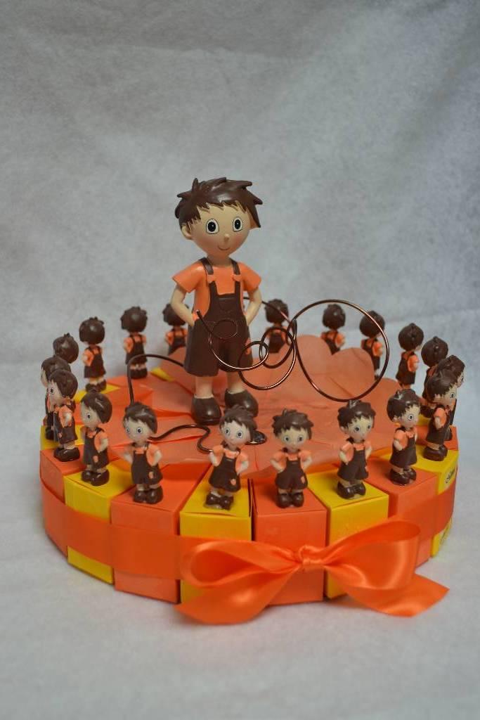 Kit à dragée gâteau de baptême garçon festival de la dragée