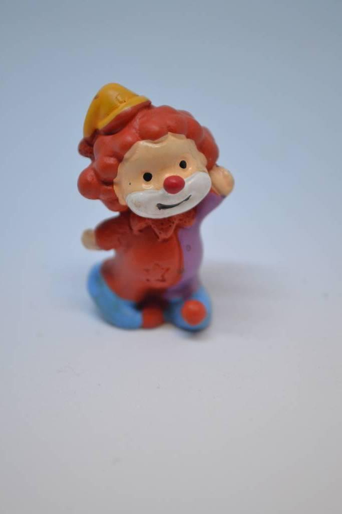 Figurine de baptême  clown rouge festival de la dragée