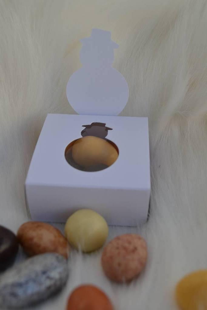 ballotin de chocolat de noël bonhomme de neige le festival de la dragée
