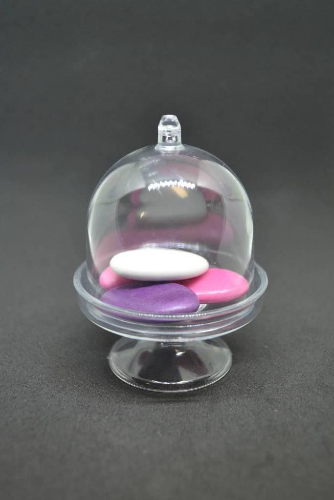 contenant en plexi forme mini cloche à dragée festival de la dragée