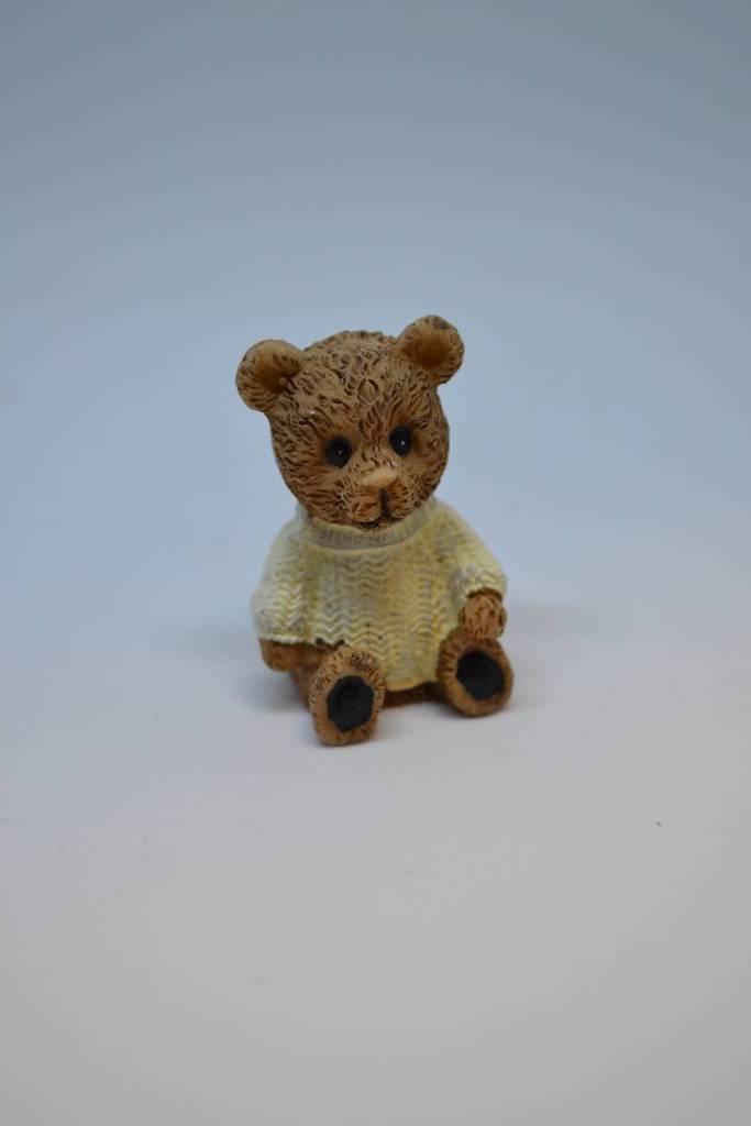 Figurine de baptême ourson brun festival de la dragée