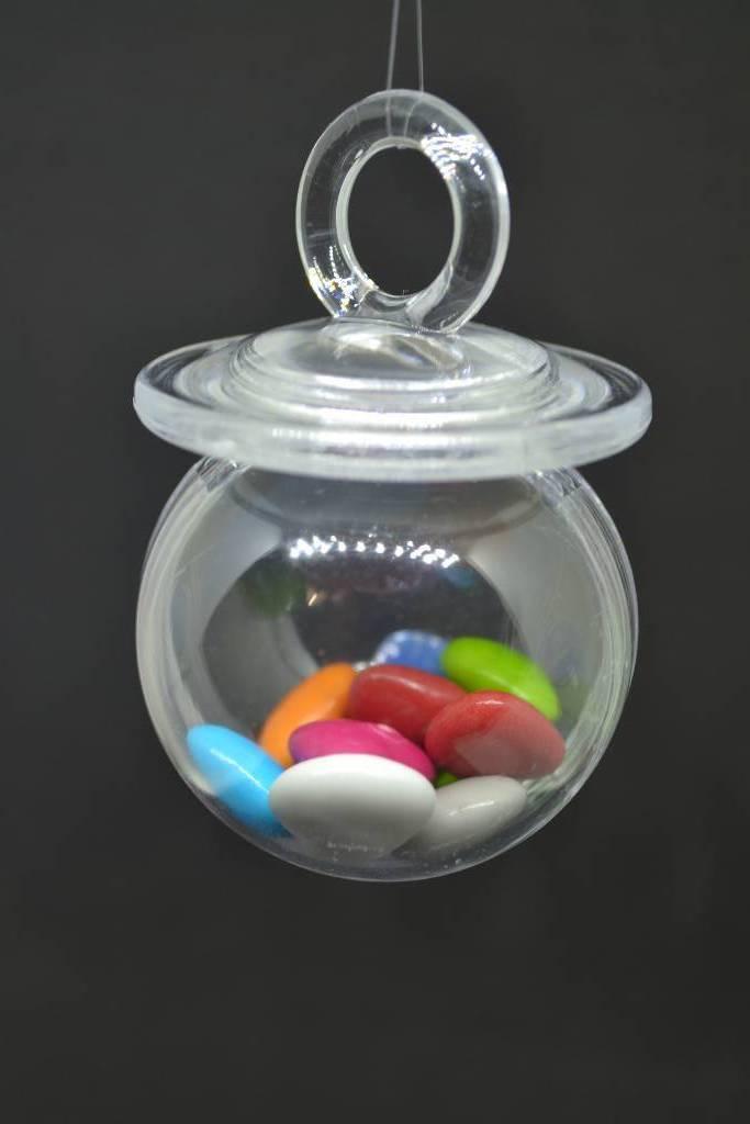 boite à dragée tétine en plexi transparent festival de la dragée