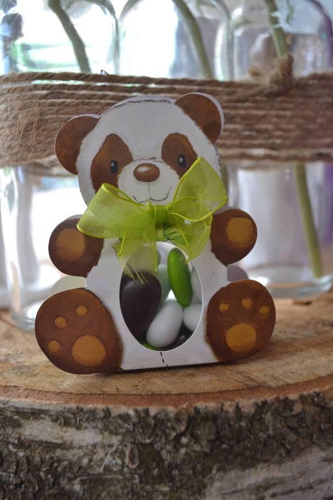 Ballotin à dragées panda festival de la dragée