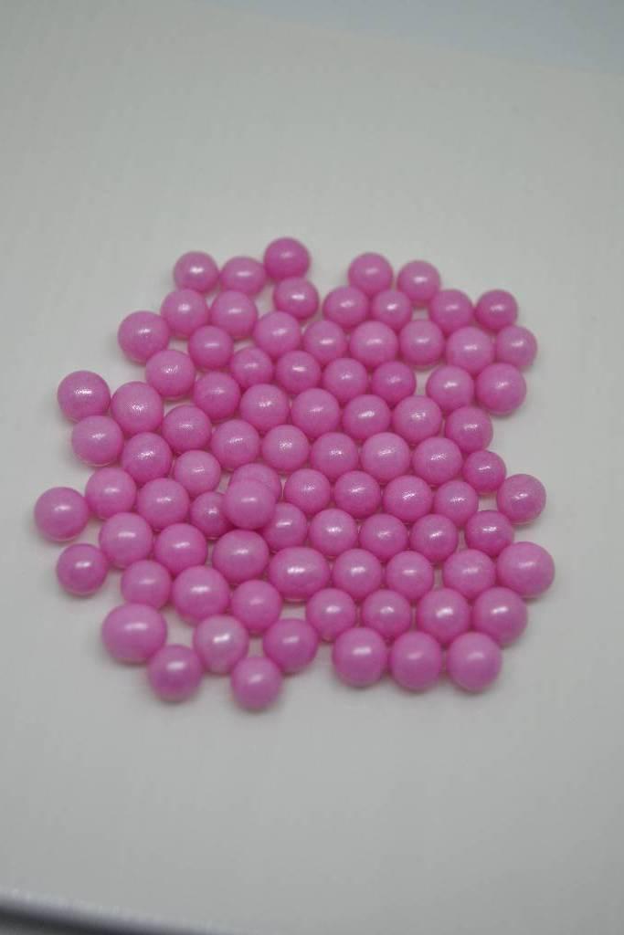 Perle de sucre rose nacrée festival de la dragée